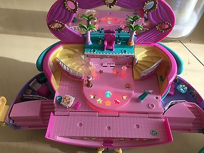 POLLY POCKET VANITY ETOILE BLUEBIRD 1992 1995 1996 + 12 Figurines Et Accessoires