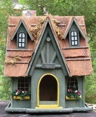 (Large) Vintage Style 2 Level Welcoming Birdhouse With A Beam Trim Roof