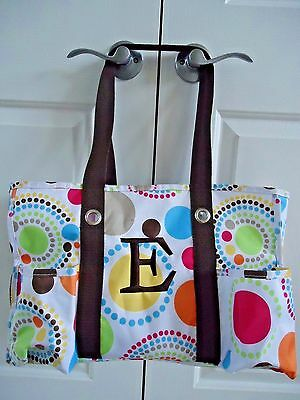 Thirty-One Utility Tote Spiral Circles