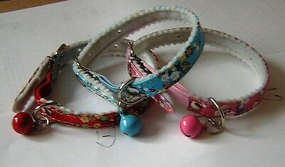 Nice Cat Collars  Elasticated For Safety. Buy 2 And Get An Extra Onefree Postage
