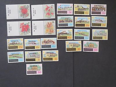 St KITTS  MINT STAMP COLLECTION
