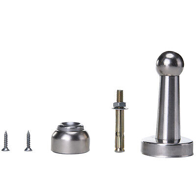 Stainless Steel Magnetic Door Stop Stopper Holder Catch & Fitting Screws HGUK