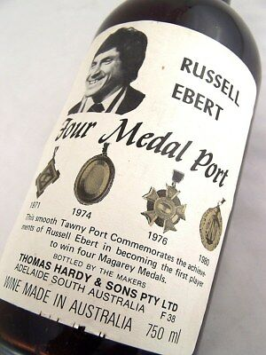 1981 circa HARDYS Thomas Hardy Russell Ebert Four Medal Tawny Po Isle of Wine