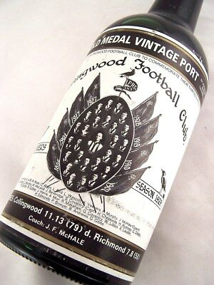 1929 Gold Medal Collingwood Premiership HOFFMANNS 1980 Vintage P Isle of Wine