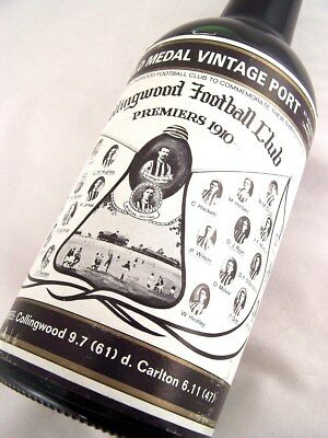 1910 Gold Medal Collingwood Premiership HOFFMANNS 1980 Vintage P Isle of Wine