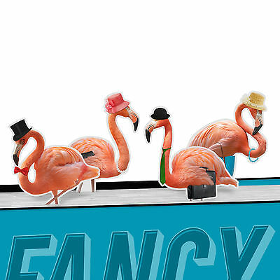 Fancy Flamingo's Magnetic Metal Bookmark Page Marker Pack of 4 - NEW