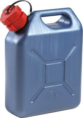 5 Litre Blue Petrol Can With built in spout Nozzle. 5 Litre Jerry can Slim Line