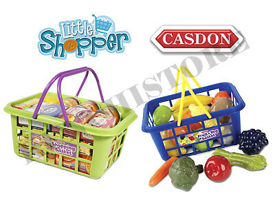 Casdon Shopping Basket Fruit Vegetable Food Grocery Childrens Toy Pretend Play