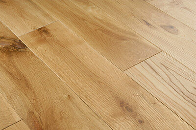Solid Oak Flooring Rustic 90mm Lacquered