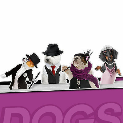 Dancing Dog's Magnetic Metal Bookmark Page Marker Pack of 4 - NEW