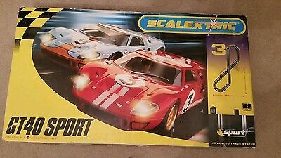 Scalextric Ford GT40 sport set tested and working