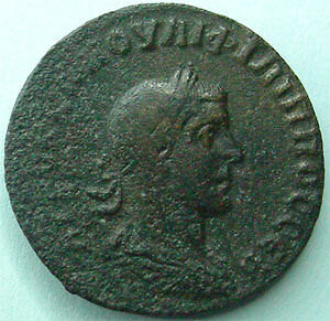PHILIPPUS I Arabs, PHILIPPE Ier l'Arabe, bronze AE 26 mm, Syrie Antioche Orontes
