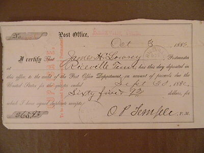 Signed Document - Oliver Perry Temple (The Great Locomotive Chase)