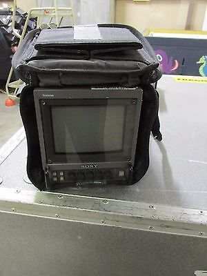 """Sony PVM-6041QM video monitor / portable field monitor / 6"""" in protective bag"""