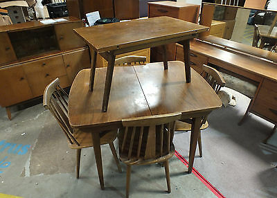 Mid Century Dining table & Chairs  (Vintage - Retro - Ercol)