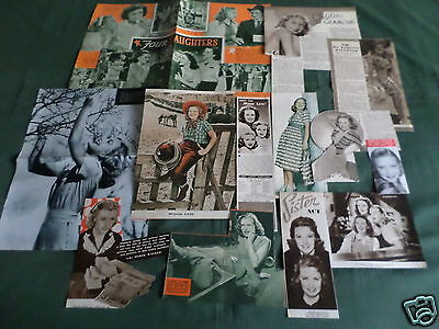 "Priscilla Lane - Film Star - ""clippings /cuttings Pack"""