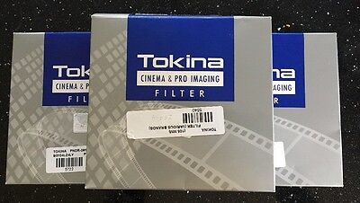 THREE Tokina 105mm PRO IRND Filters 0.3 ,0.6, 0.9  NEW and SEALED incl pouch