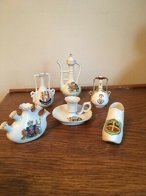 6 Pieces of Crested Ware China including Shelley
