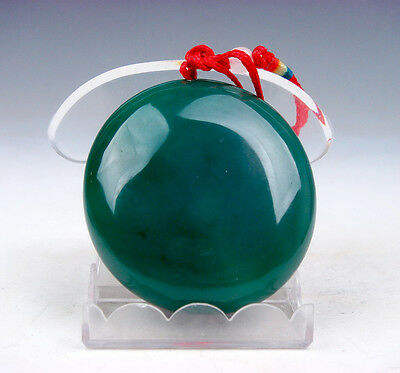 GemStone Agate Round Pendant Necklace w/ Silk Carrying Cord Feng-Shui #12071605