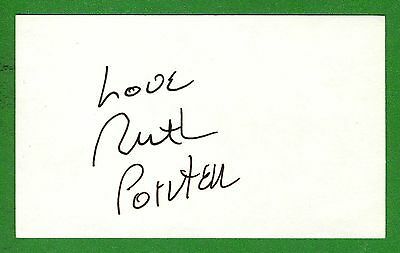 Ruth Pointer Singer 'Pointer Sisters' 80's Hit-I'm So ExcitedSigned Card C10855