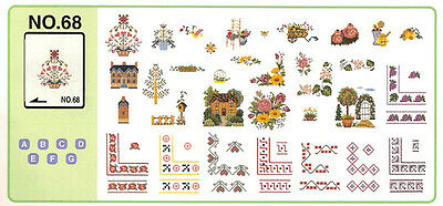 Brother Embroidery Card PED, No. 68 Cross Stitch Patterns Brand New