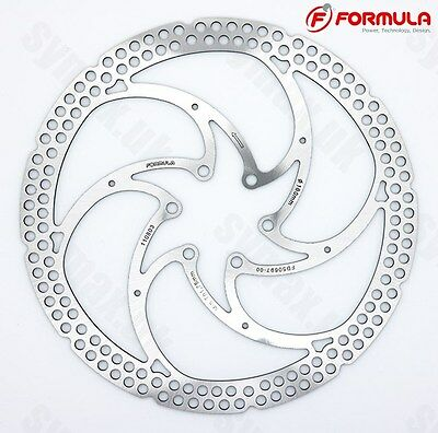 Formula 180mm 6-Bolt  Disc Brake Rotor, Lazer Cut Stainless Steel, with Bolts