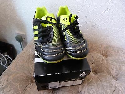 Adidas Predator RUGBY BOOTS BLACK/LIME SIZE 2