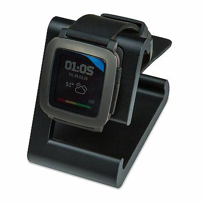 TimeDock (Black) - Charging Dock for Pebble Time, Pebble Time2, Steel & Round