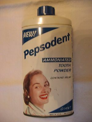 PEPSODENT Lever Brothers Large Tooth Powder Tin New York