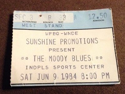 Ticket Stub, The Moody Blues, 1984, Indianapolis Sports Center