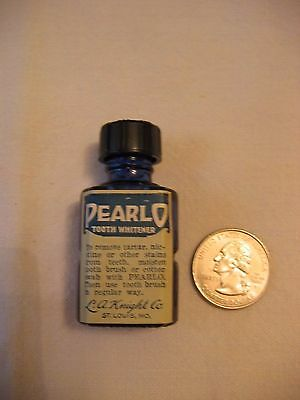 PEARLO Tooth Whitener Cobalt Blue Bottle L A Knight Co St. Louis , MO