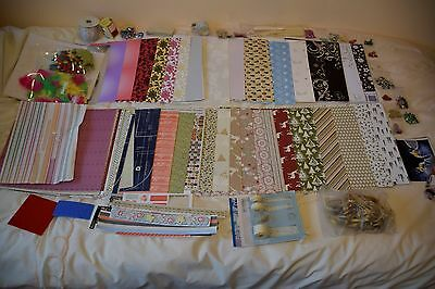 Large selection of card crafting components