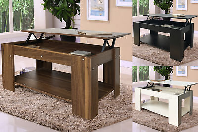 FoxHunter Lift Up Top coffee Table MDF With Storage and Shelf Living Room CT01