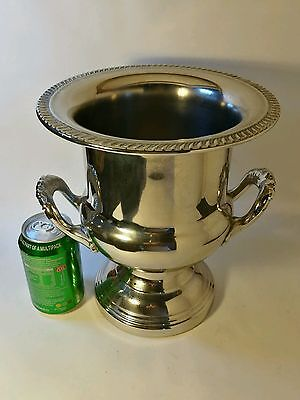 Large Vintage Edwardian Style Silver Plate Champagne Bucket / Wine Cooler