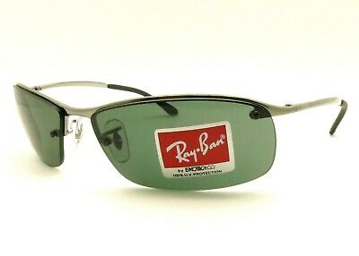 Ray Ban RB 3183 004/71 63mm Gunmetal Green Sunglasses New Authentic