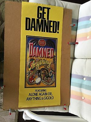 """The Damned """"anything"""". 1987 original promo poster"""