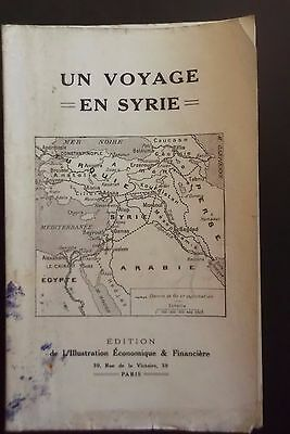 Lebanon Syria Syrie Beirut Beyrouth Liban Hotel Alep  French Tourist Guide 1921