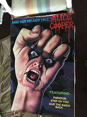 "Alice Cooper ""raise your fist and yell"".  promo poster"
