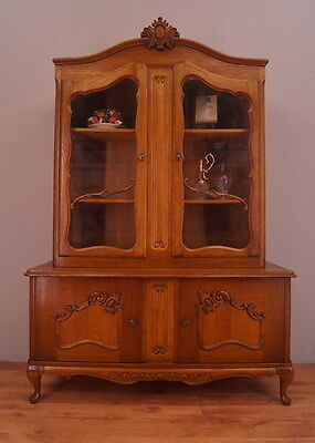 1187 !! Vintage French Display Cabinet/bookcase In Louis Xv Style !!