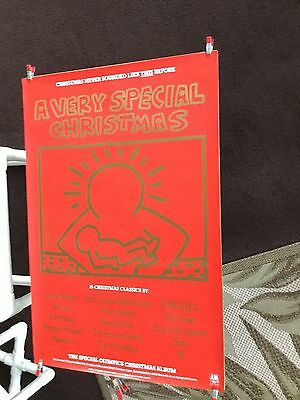 """Keith Haring """"a very special Christmas"""". 1987 promo poster"""