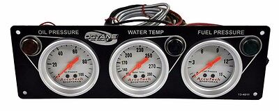 Octane 3 Gauge Oil Pressure-Water Temperature-Fuel Pressure