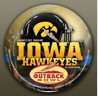 2017 Outback Bowl Button - Iowa Hawkeyes