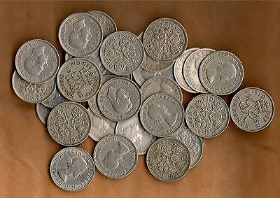 Collection Of 30 Old Sixpences