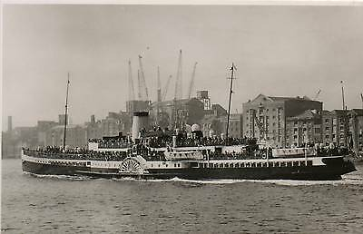 """OLD REAL PHOTO POSTCARD of a PADDLE STEAMER """"P.S. ROYAL EAGLE"""" 1932 GENERAL S.N."""