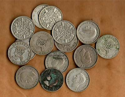 COLLECTION OF 15 OLD SIXPENCES - all pre 1947