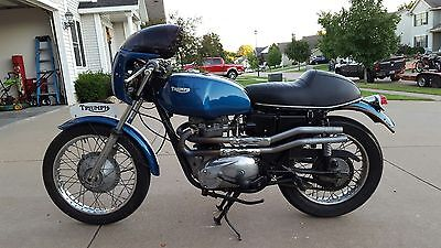 1971 Triumph Tiger  BEAUTIFUL RESTORED 1971 TRIUMPH TIGER 650 TR6R CAFE SETUP ORIGINAL SEAT EXHAUST