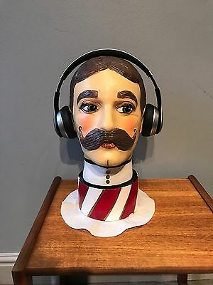 shop window Headphone/hat display head 1920s- VR STAND - Mannequin Bust