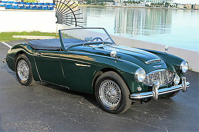 1957 Austin Healey Other 100-6  ONLY 58K ACTUAL MILES BRITISH RACING GREEN OVER BLACK LEATHER SOFT TOP & TONNEAU