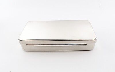 Dental Orthodontic Stainless Sterilization Instrument Tray Case W/ Lid Autoclave