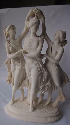 Lovely Classical Limestone Sculpture 'CROWNING VENUS' (after A. Frilli) H:34cm